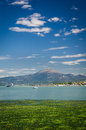 Peschiera del garda on lake in italy Royalty Free Stock Photography