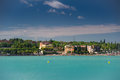 Peschiera del garda on lake in italy Stock Photo