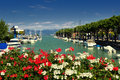 Peschiera del garda on lake in italy Stock Photography