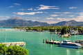 Peschiera del garda on lake in italy Stock Image