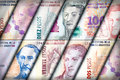 Peso wall background argentinean bills creating a colorful Stock Image