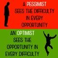 Pessimist optimist Royalty Free Stock Photo
