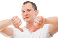 Pessimist showing gesture with his hands all the bad Royalty Free Stock Photo