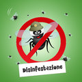 Pest control pests illustration of Royalty Free Stock Photo