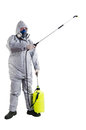 PEST CONTROL WORKER Royalty Free Stock Photography