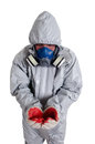 Pest control worker a wearing a mask Stock Photography