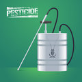Pest insects control sprinkling equipment vector illustration for farming Royalty Free Stock Photo