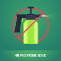 Pesticide spray in prohibition sign vector illustration