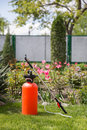 Pesticide sprayer lawn and garden fertilizer Stock Images