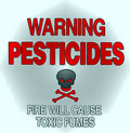 Pesticide warning Stock Images