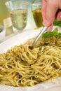Pesto pasta Royalty Free Stock Photo