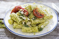 Pesto Pasta Salad Royalty Free Stock Photo