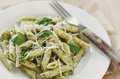 Pesto Pasta Royalty Free Stock Photo
