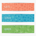 Pet banners Stock Photos