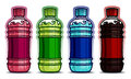 Pet bottle drinks flavors Stock Image