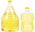 Pet bottles with oil Royalty Free Stock Photo