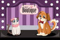 Pet boutique a vector illustration of Stock Image