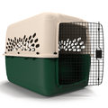 Pet carrier for pet traveling on white 3D Illustration