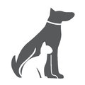 Pet , Dog and Cat Icon. Material for Design. Vector Illustration