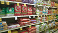 Pet food on shelves tom thumb store Stock Image