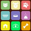 Pet icons set of vector eps illustration Stock Image