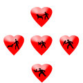 Pet lovers this heart sign love of the this of the animal Stock Images