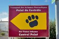 Pet passport animal control centre for travel to the united king a sign pointing way scheme point prior uk Royalty Free Stock Images