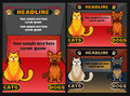 Pet shop banner with cat dog, vector cartoon illustration