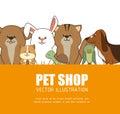 Pet shop design. Royalty Free Stock Photo