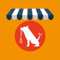 Pet shop with dog training Royalty Free Stock Photo