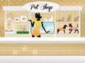 Pet shop illustration of the Stock Photography