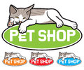 Pet shop label symbol design sign Stock Images