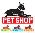 Pet shop label symbol design sign Stock Image