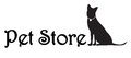 Pet store logo name board with dog silhouette Royalty Free Stock Photography