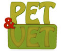 Pet and vet d text green red color Stock Photo