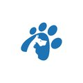 Pet and Veterinarian Logo ,animal lover group Royalty Free Stock Photo
