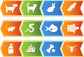Pet web buttons - arrow Royalty Free Stock Images