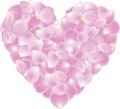 Petal shaped heart Royalty Free Stock Image