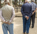 Petanque players in detail Royalty Free Stock Photo