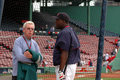 Peter Gammons and David Ortiz Stock Images