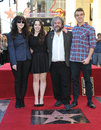 Peter jackson fran walsh los angeles ca december director wife children on hollywood blvd where he was honored with the th star on Stock Photography
