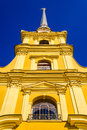 The peter and paul cathedral on blue sky background Royalty Free Stock Photo