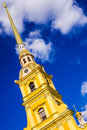 The peter and paul cathedral on blue sky background Stock Images