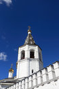 Peter and paul church bell tower in trinity monastery russia tyumen Stock Photos