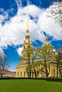 Peter and paul church in peter and paul s fortress st petersburg russia Stock Photos