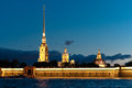 Peter and Paul fortress horizontal view Royalty Free Stock Photos