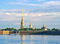 Peter and paul fortress neva river cathedral summer morning in st petersburg russia Stock Photos