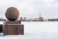 Peter and Paul Fortress in St. Petersburg in winter Royalty Free Stock Photo