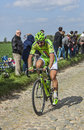 Peter sagan paris roubaix carrefour de l arbre france april the slovak cyclist cannondale team riding on the famous cobblestone Stock Photo