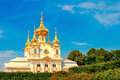 Petergof east chapel in peterghof st petersburg russia Royalty Free Stock Image